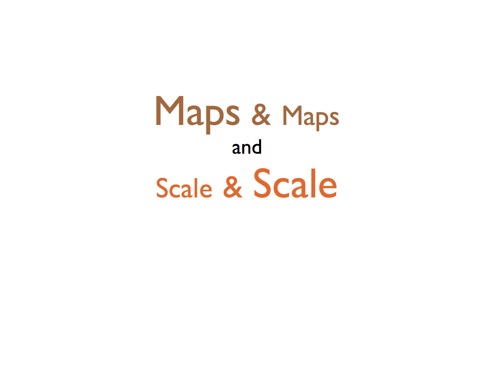 Maps and Scale